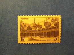 """1941Timbre Neuf N°499a   -  ++    """" Hotel Dieu De Beaune 5Frs Brun """"    Cote       0.65     Net      0.20 - France"""