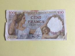 Billet 100 Francs Sully, 1941 (699) - Petite Déchirure & Tâche - 1871-1952 Anciens Francs Circulés Au XXème