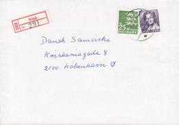 Denmark Registered Einschreiben Recommandé Label NIVÅ 1999 Cover Brief 25 Kr. Lion Arms Löwe Waffen Stamp - Dänemark