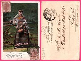 Cpa - Roumanie - Romania - Femme Roumaine - Edit. FORTUNA - Oblit. CONSTANTA Vers MALESHERBES 1903 - Rumania