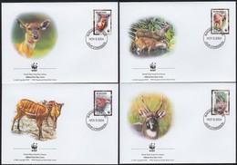Burundi 2004 OCBn° FDC 1115-18 (o) Oblitéré  Cote Des Timbres 13,00 Euro Faune WWF Sitatunga - Burundi