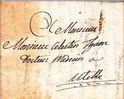 France LAC*** Précurseurs Nice 11/10/28 Pour Utelle - 1801-1848: Voorlopers XIX