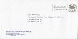 Denmark HELSINGØR PIGEGARDE Hallandsvej Ålsgårde Slogan Flamme 'Kongressernes By HELSINGØR 1990 Cover Brief Flora Danica - Briefe U. Dokumente