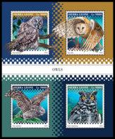 SIERRA LEONE 2018 **MNH Owls Eulen Hiboux M/S - OFFICIAL ISSUE - DH1852 - Eulenvögel
