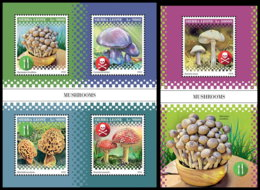 SIERRA LEONE 2018 **MNH Mushrooms Pilze Champignons M/S+S/S - OFFICIAL ISSUE - DH1852 - Champignons