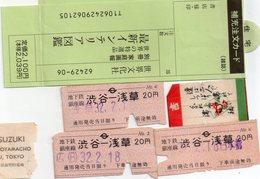 Divers Tickets  Entrée Spectacle Ou Transport Au Japon - Barbie