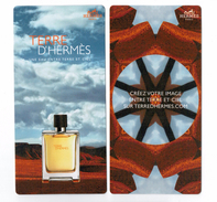 Cartes Parfumées  Carte   TERRE D'HERMÈS  RECTO VERSO De HERMES - Modernas (desde 1961)