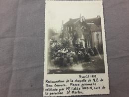 Ransart Carte Photo Chapelle Notre Dame Bon Secours 1952 - Charleroi