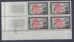 ALGERIE - N° 381 - CONSTITUTION - Bloc De 4 COIN DATE - NEUF SANS CHARNIERE - Algeria (1924-1962)