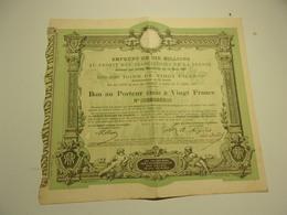EMPRUNT DE DIX MILLIONS (1887)  Au Profit Des Associations De La Presse - Actions & Titres