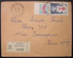 Vierzon Bourgneuf 1962, Lettre Recommandée Pour Paris - Marcophilie (Lettres)