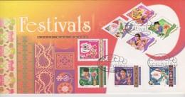 Singapore 2000 Festivals Miniature Sheet  FDC - Singapore (1959-...)
