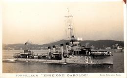 Thematiques Bateau Guerre France Torpilleur Enseigne Gabolde - Voiliers