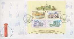 Singapore 2000 Postal Landmarks Miniature Sheet FDC - Singapore (1959-...)