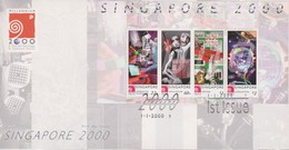 Singapore 2000 Singapore 2000 Miniature Sheet FDC - Singapore (1959-...)
