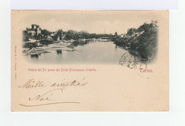 Sur Carte Postale De Torino Type Blanc 5 C. Vert CAD Constantinople 1900. Cachet Valence S Rhône. (10031003t) - 1858-1921 Empire Ottoman