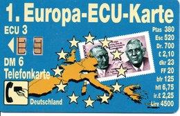 Timbre Stamp Mappemonde Terre  Télécarte  K  943 03.93  -  4 100 Ex - Monnaie Ecu Phonecard  Karte (G 35) - Timbres & Monnaies