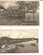 2 Cartes Postales Anciennes. SINGAPOUR. Voir Description - Singapour