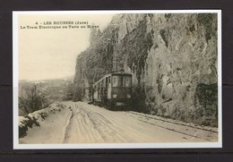 REPRODUCTION FRANCE LES ROUSSES JURA TRAM  GARE TRAIN TREIN - Trains