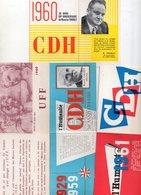 Lot De 4 Cartes Adhérent 59-60-60-61, CDH Pour 3 Et UFF Pour Une - Cartes