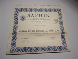 SAPHIR - Sin Clasificación