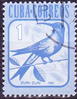 Kuba Cuba - Ricordkolibri (Chlorostilbon Ricordii) (Mi.Nr.: 2606) 1981 - Gest Used Obl - Cuba