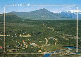 1 AK Island * Blick Auf Den Ort Húsafell - Luftbildaufnahme * - Island