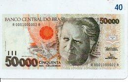 Télécarte Brésil   - Billet Monnaie Money Numismatique Bank Banque  Phonecard  (G 37) - Timbres & Monnaies