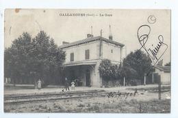Cpa - Dpt  - Gard  -  Gallargues - La Gare   - Animation -     (  Selection  )   Rare  1908 - Gallargues-le-Montueux