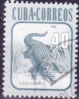 Kuba Cuba - Rautenkrokodil (Crocodylus Rhombifer) (Mi.Nr.: 2611) 1981 - Gest Used Obl - Cuba
