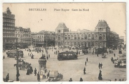BRUXELLES - Place Rogier - Gare Du Nord - Tramways - Squares