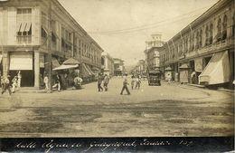 Ecuador, GUAYAQUIL, Calle Aguirre, Old Car (1910s) RPPC Postcard - Ecuador