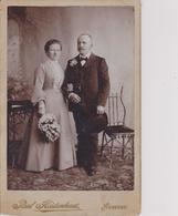 A423  -  CABINET  PH,  CDV  -  AUSTRIA,  NEUBERG ~   LADY & MANN .~   ATELIER EDELWEISS  ~   BIG FORMAT 16 Cm X 10,5 Cm - Fotos