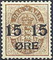 DENEMARKEN 1904 Opdruk 15/24õre Wapentype Bruin Tanding PF-MNH-NEUF - Nuovi