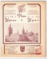 Ieper 1958 - Stadsplan Met Advertenties Plaatselijke Handelaars. - Europe