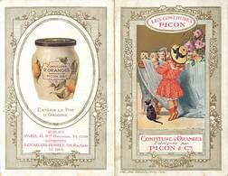 -ref-B304- Publicite - Livret Confitures Picon & Cie - Confiture D Oranges - Levallois Perret - Rue Andre Gide -2 Volets - Publicité