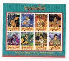 Guyana - 1995 - Foglietto Tematica Disney - Pocahontas - 8 Valori - Nuovo - (FDC13686) - Guiana (1966-...)