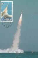 PR CHINA Maximum Card 1989 Carrier Rocket - 1949 - ... People's Republic