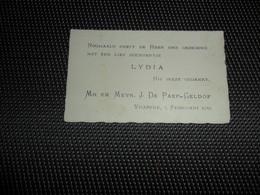 Geboortekaartje ( 429 )  De Paep / Geldof  -  Vracene  Vrasene  1935 - Naissance & Baptême