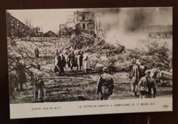 LE ZEPPELIN ABATTU A COMPIEGNE LE 17 MARS 1917 (1) - Guerre 1914-18