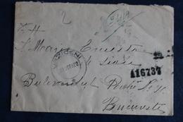 1922       7  TIMBRES    SUR  UNE  ENVELOPPE            2  PHOTOS - 1918-1948 Ferdinand, Carol II. & Mihai I.