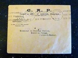 MONTAUBAN - TARN ET GARONNE - FLAMME P.P. PORT PAYE 1938 SES MUSEES SES PRIMEURS - Poststempel (Briefe)