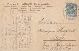 CP Obl Damdach (T148 Dambach Kr Schlettstadt) Sur 5pf Le 1/10/14 Pour Lüssel - Marcophilie (Lettres)