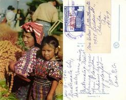 Guatemala, C.A., San Pedro Sacatepéquez, Native Indian Women (1962) Postcard - Guatemala