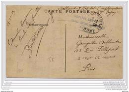 "Cachet ""HOPITAL COMPLEMENTAIRE N°35 SERVICE CENTRAL NEUROLOGIE LYON"" 1915 - WW I"