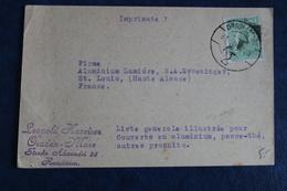 1925    CARTE  COMMERCIALE   PARTIE  DE  ORADEA  MARE      POUR  SAINT  LOUIS  EN  FRANCE         2  PHOTOS - Lettres & Documents