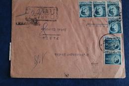 194.    47  TIMBRES  SUR  UNE  ENVELOPPE        POUR  PARIS         2  PHOTOS - Lettres & Documents