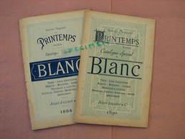 Grands Magasins Du Printemps  1 Cata. 1890,1 Cata 1894 + Echantillons Tissus + Divers Prospectus Interessants. - France