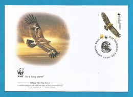 Georgien / Georgian 2007 Mi.Nr. 527 , Greater Spotted-Eagle-Schelladler-WWF Official First Day Cover Georgian 11.07.2007 - Georgien