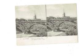 Cpa Stéréoscopique - LA SUISSE - BERNE Et Le Nouveau Pont De Chemin De Fer - LL 6 - église échafaudage - Stereoscope Cards